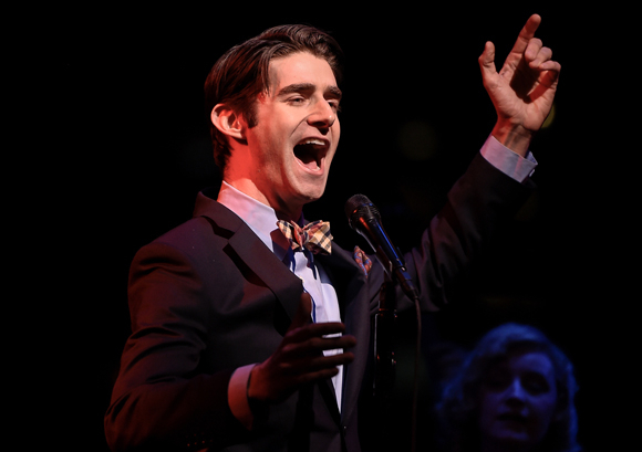 <p>Drew Gehling hits a high note.</p><br />(© Kevin Yatarola)