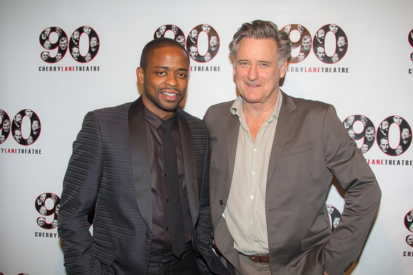<p>Dulé Hill and Bill Pullman flash their smiles for the camera.</p><br />(© Seth Walters)