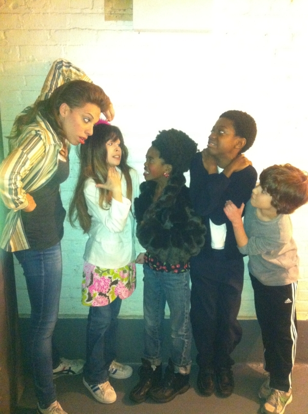 <p>During intermission I like to play with the kids. Teach them. Mold them into fine young men. </p>