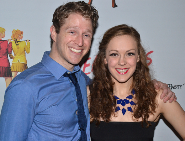<p>Dustin Sullivan and Rachel Flynn are <em>Heathers</em> ensemble members.</p><br />(© David Gordon)