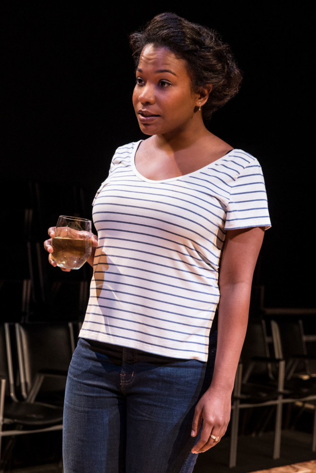 <p>Eboni Booth stars as Madeleine.</p><br />(© Matthew Murphy)