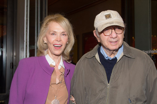 <p>Elaine Joyce and her husband, Neil Simon, take in an opening night together.</p><br />(© Seth Walters)