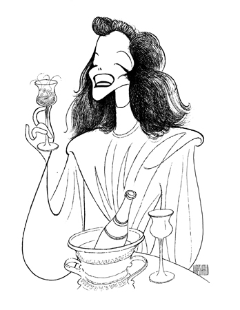 <p>Hirschfeld had drawn the souvenir program for the original  1937 stage production of <em>The Philadelphia Story</em> and would continue to draw Katharine Hepburn regularly over the next sixty years. When he finished this commission he asked that a full-size copy be sent to her.</p><br />courtesy of the Al Hirschfeld Foundation