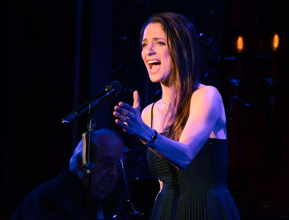 <p>Elena Shaddow performs a tune on stage at 54 Below.</p><br />(© Nessie Nankivell)