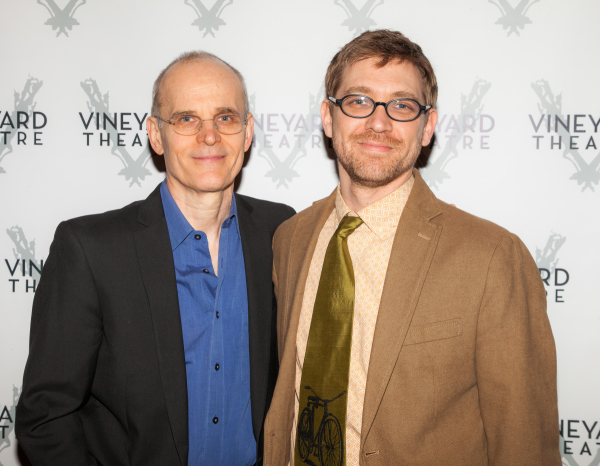 <p><em>Slowgirl</em> collaborators Željko Ivanek and Greg Pierce (coauthor of the Vineyard&#39&#x3B;s <em>The Landing</em>).</p><br />(© Seth Walters)