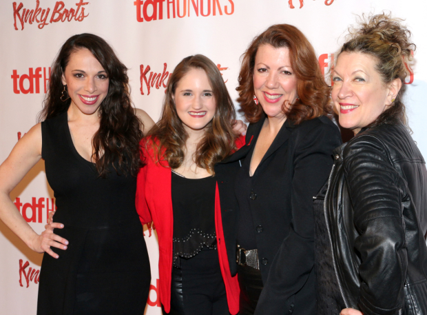 <p>Ellyn Marie Marsh, Blair Goldberg, Jennifer Perry, and Adinah Alexander currently appear in <em>Kinky Boots</em>.</p><br />(© David Gordon)