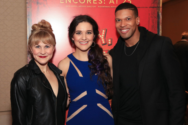 <p>Eloise Kropp, Kerry Conte, and Jaquez André Sims stopped for a photo.</p><br />(© Tricia Baron)
