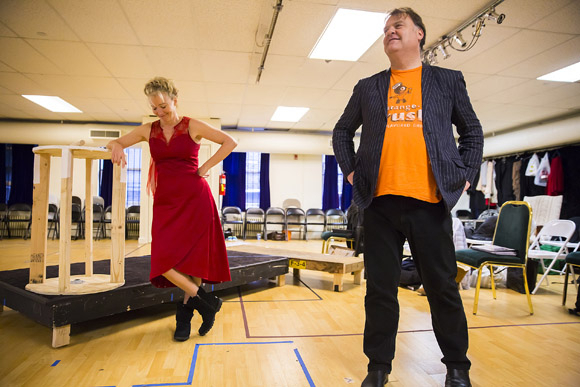 <p>Emma Thompson and Bryn Terfel play Mrs. Lovett and Sweeney Todd.</p><br />(© Chris Lee)