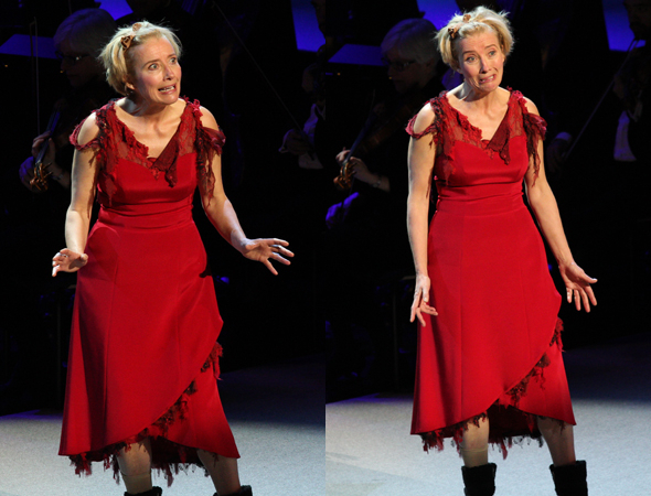 <p>Emma Thompson shows off her silly side as Mrs. Lovett.</p><br />(© David Gordon)