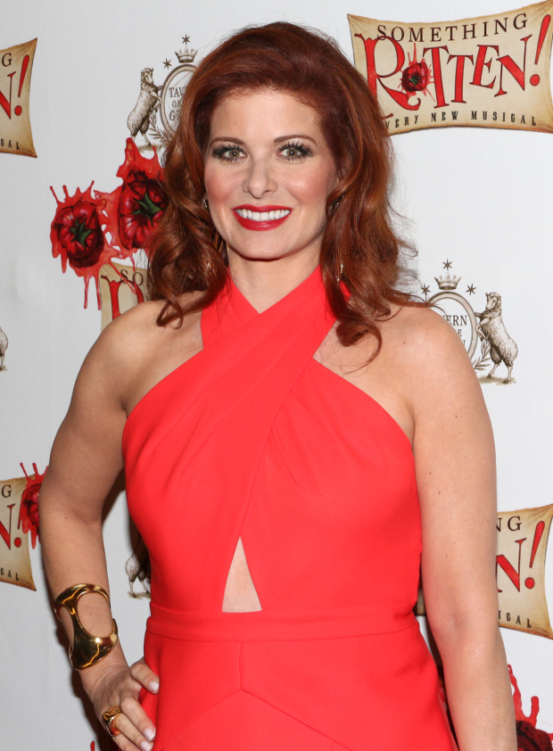 <p>Emmy winner Debra Messing is part of the <em>Smash</em> contingent on hand to cheer for Brian d&#39&#x3B;Arcy James and Christian Borle.</p><br />(© David Gordon)