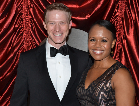 <p>Ensemble member Jeff Kready and his wife, Nikki Renée Daniels, are ready for the after-party.</p><br />(© David Gordon)