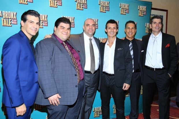 <p>Ensemble members Joey Sorge, Michael Barra, Paul Salvatoriello, Ted Brunetti, Charlie Marcus, and Joe Barbara gather for a group shot.</p><br />(© @Tricia Baron 2016)