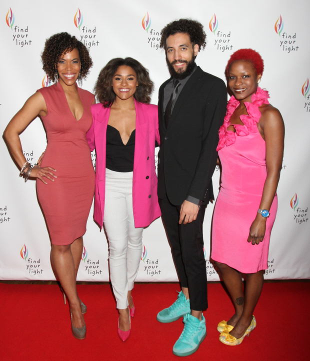 <p>Erica Dorfler, Ariana Debose, Heath Saunders, and Lulu Fall stop for a photo.</p><br />(© Henry McGee)