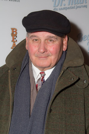 <p>Ernie Sabella, who provided the voice of Pumbaa in the <em>Lion King</em> films, celebrated opening night.</p><br />(© Seth Walters)