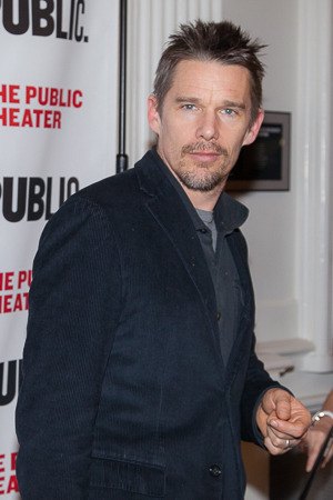 <p>Film star and stage veteran Ethan Hawke showed up to support the cast.</p><br />(© Seth Walters)