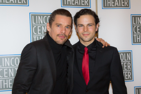 <p>Ethan Hawke and Jonny Orsini, who plays Malcolm.</p><br />(© Seth Walters)