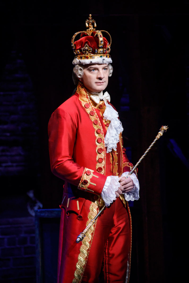 <p>Euan Morton plays King George.</p><br />(© Joan Marcus)