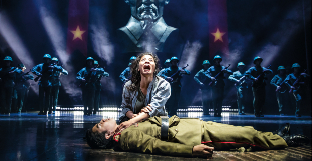 <p>Eva Noblezada and Devin Ilaw in <em>Miss Saigon</em>.</p><br />(© Matthew Murphy)