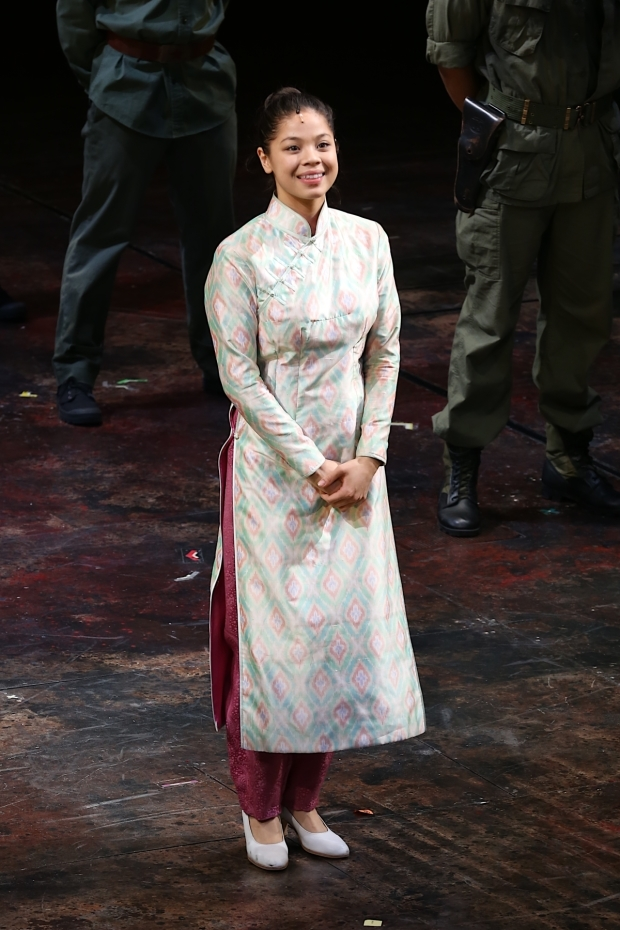 <p>Eva Noblezada comes out for her bow.</p><br />(© Tricia Baron)