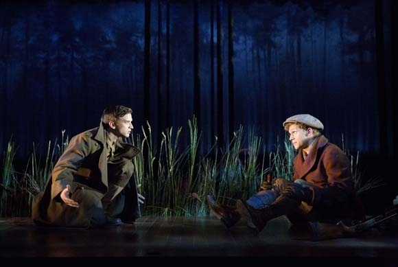 <p>Evan Jonigkeit and Brian Cross play the family&#39&#x3B;s two sons.</p><br />(© Joan Marcus)