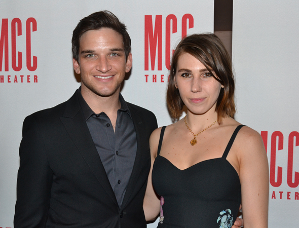 <p>Evan Jonigkeit and Zosia Mamet are MCC veterans, having starred in the 2013 production of <em>Really Really</em>.</p><br />(© David Gordon)