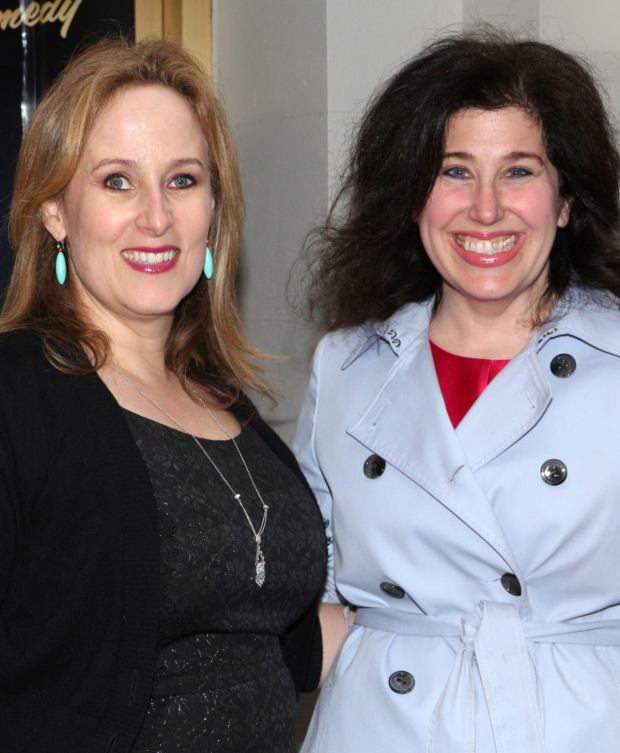 <p><em>Ever After</em> authors Zina Goldrich and Marcy Heisler are thrilled to see the latest production of their director, Kathleen Marshall.</p><br />(© David Gordon)