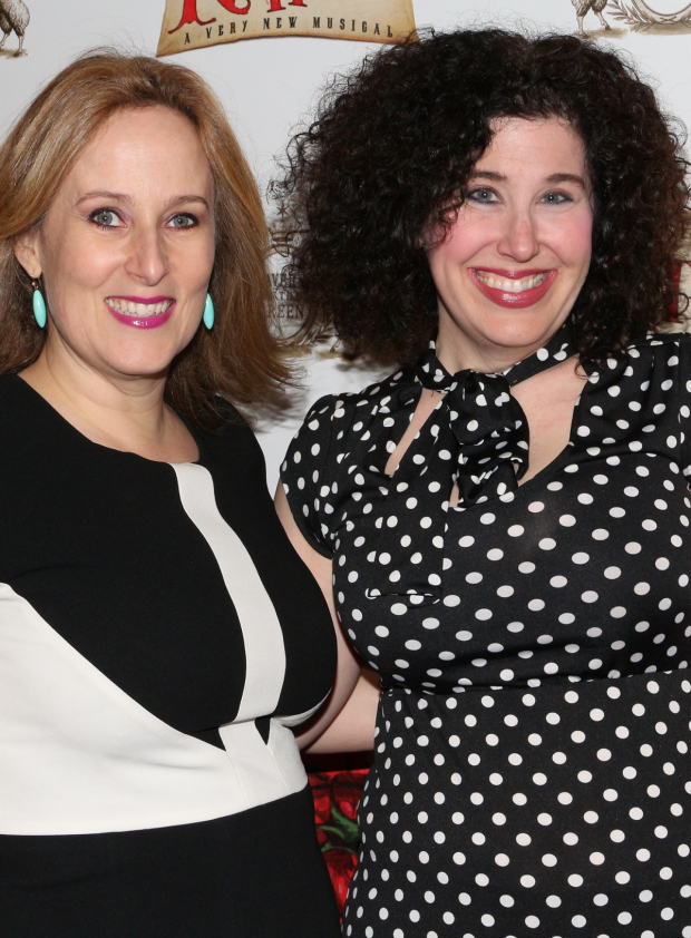 <p><em>Ever After</em> writers Zina Goldrich and Marcy Heisler are thrilled to see <em>Something Rotten!</em></p><br />(© David Gordon)
