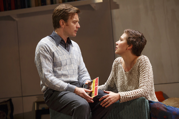 <p>Ewan McGregor and Maggie Gyllenhaal share a moment on stage.</p><br />(© Joan Marcus)