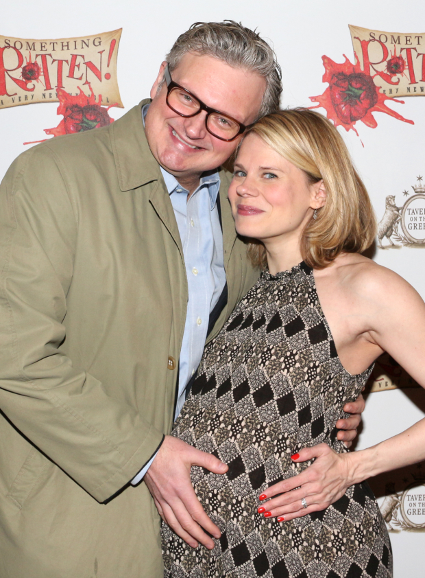 <p>Expectant parents John Ellison Conlee and Celia Keenan-Bolger take in one of their final Broadway opening nights before their new &plus&#x3B;1 arrives.</p><br />(© David Gordon)