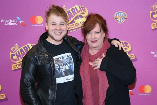 <p>F. Michael Haynie and Kathy Fitzgerald are the Gloop family of <em>Charlie and the Chocolate Factory</em>.</p><br />(© Tricia Baron)