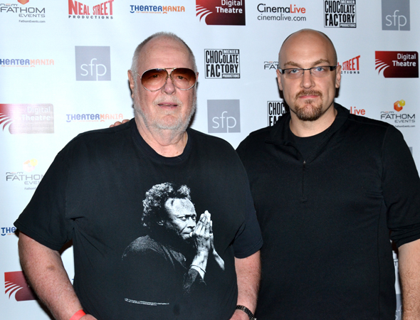 <p>Father-and-son Sondheim show veterans Paul Gemignani, the musical director of the original Broadway <em>Merrily We Roll Along</em>, and Alex Gemignani, who appeared in <em>Sunday in the Park With George</em>, <em>Assassins</em>, and <em>Sweeney Todd</em>, are thrilled to be on hand for the screening.</p><br />(© David Gordon)