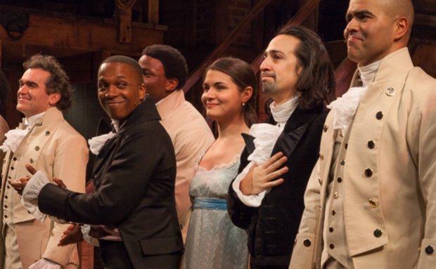 <p>February 17, 2015: <em>Hamilton</em> opens at the Public Theater.</p><br />(© Seth Walters)