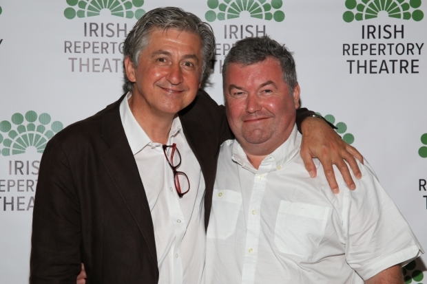 <p>Fiach Mac Conghail joins Owen McCafferty for a picture.</p><br />(© Tricia Baron)