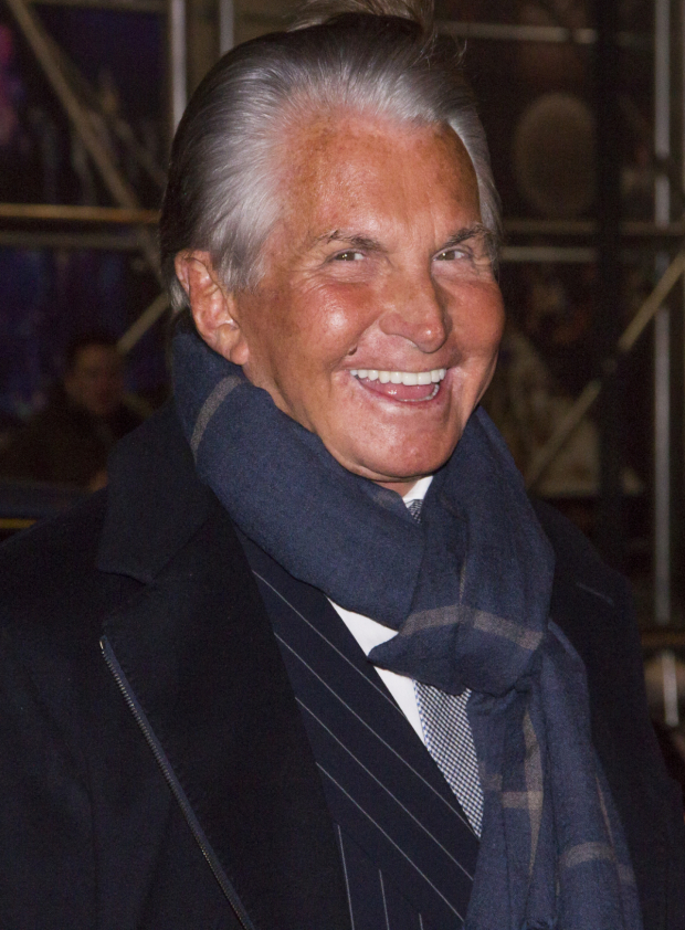 <p>Film and television icon George Hamilton is ready for <em>The Present</em>.</p><br />(© David Gordon)