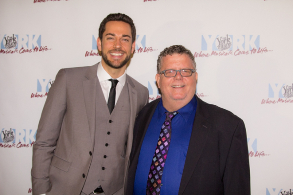 <p><em>First Date</em> star Zachary Levi with producing artistic director James Morgan.</p><br />(© Seth Walters)