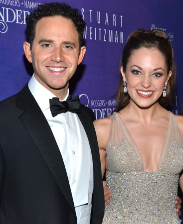 <p>Fontana and Osnes are decked out in their opening-night finest at the gala performance&#39&#x3B;s after-party.</p><br />(© David Gordon)