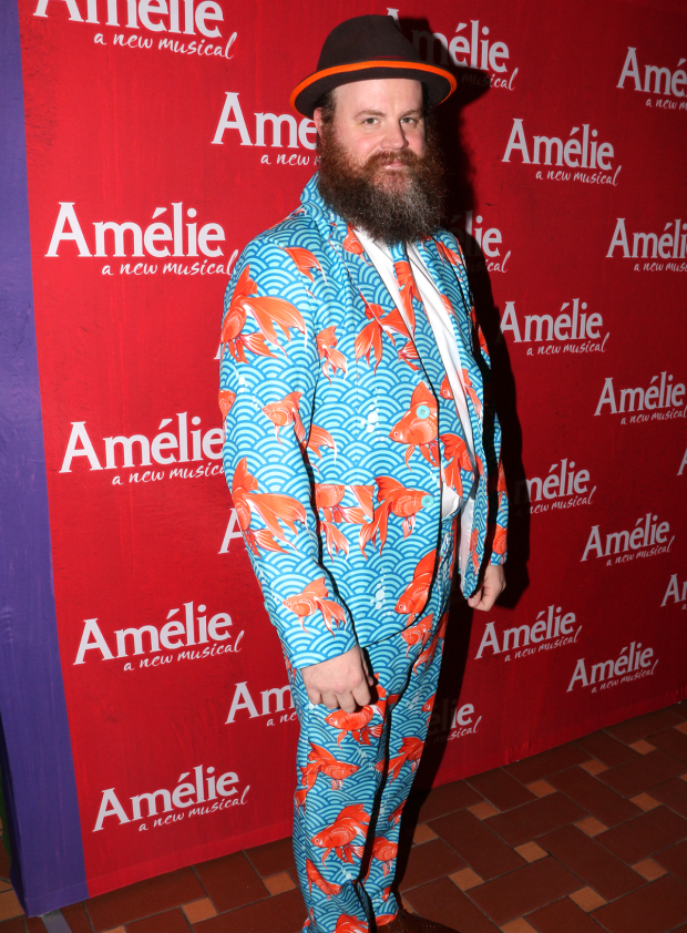 <p>For his opening night attire, Paul Whitty sought inspiration from his character, a goldfish.</p><br />(© David Gordon)