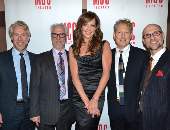 <p>Four-time Emmy-winning <em>West Wing</em> star Allison Janney was the guest of honor at MCC Theater&#39&#x3B;s annual <em>Miscast</em> benefit at the Hammerstein Ballroom. Here she is with MCC head honchos Blake West, Robert LuPone, Bernie Telsey, and Will Cantler.</p><br />(© David Gordon)