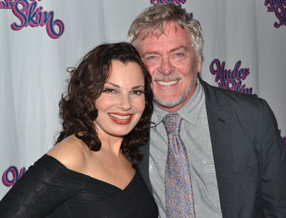 <p>Fran Drescher and Daniel Davis pose for a <em>Nanny</em> reunion photo.</p><br />(© David Gordon)