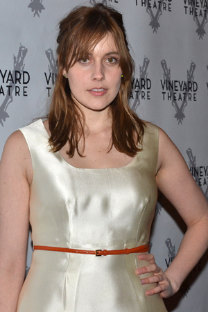 <p><em>Frances Ha</em> star Greta Gerwig is happy to support off-Broadway.</p><br />(© David Gordon)