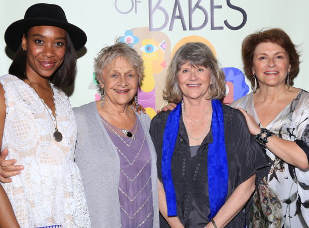 <p>Francesca Choy-Kee, Estelle Parsons, Judith Ivey, and Angelina Fiordellisi star in <em>Out of the Mouths of Babes</em> at the Cherry Lane Theatre.</p><br />(© Tricia Baron)