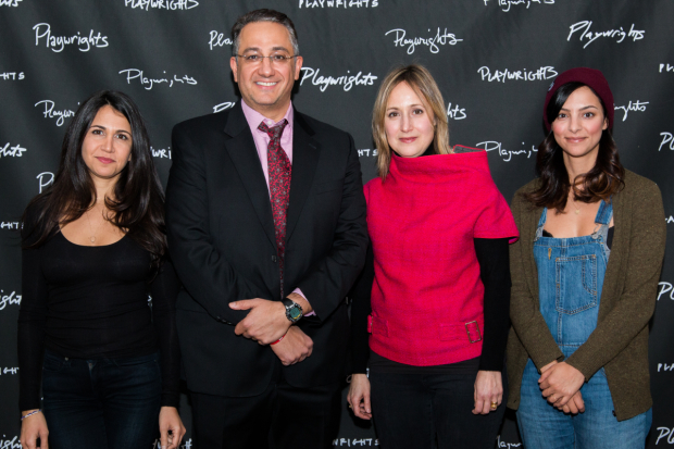 <p>Francis Benhamou, Ali Reza Farahnakian, Heather Raffo, and Tala Ashe met the press at the event held on February 14.</p><br />(© Rochelle Torres)