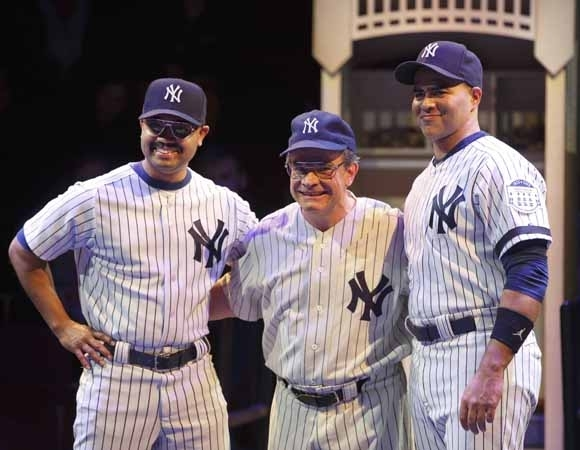 <p>Francois Battiste, Peter Scolari, and Christopher Jackson.</p><br />(© Joan Marcus)