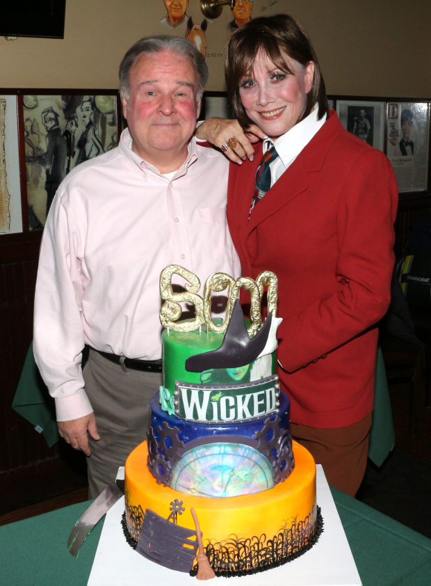 <p>Fred Applegate and Michele Lee are the current Wizard and Madame Morrible of <em>Wicked</em> on Broadway.</p><br />(© David Gordon)