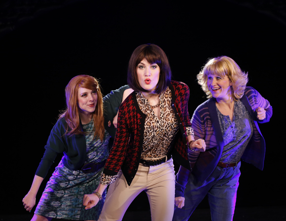 <p>Frotton, Williamson, and Ward perform a number from the new musical send-up. </p><br />(© Matthew Murphy)