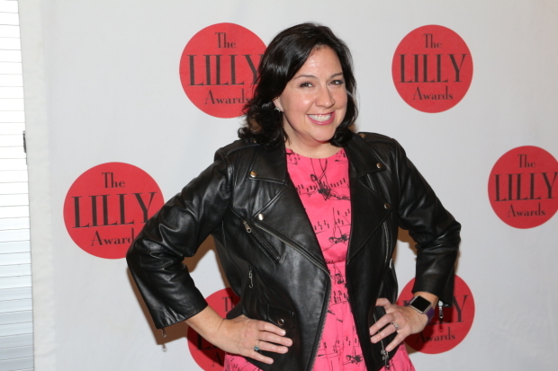 <p><em>Frozen</em> Oscar winner Kristen Anderson-Lopez is a proud guest at this year&#39&#x3B;s Lilly Awards.</p><br />(© David Gordon)