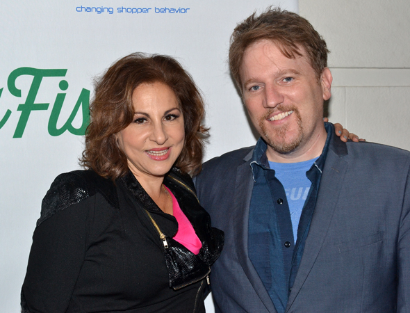 <p>Funny couple Kathy Najimy and Dan Finnerty spend their date night at <em>Big Fish</em>.</p><br />(© David Gordon)