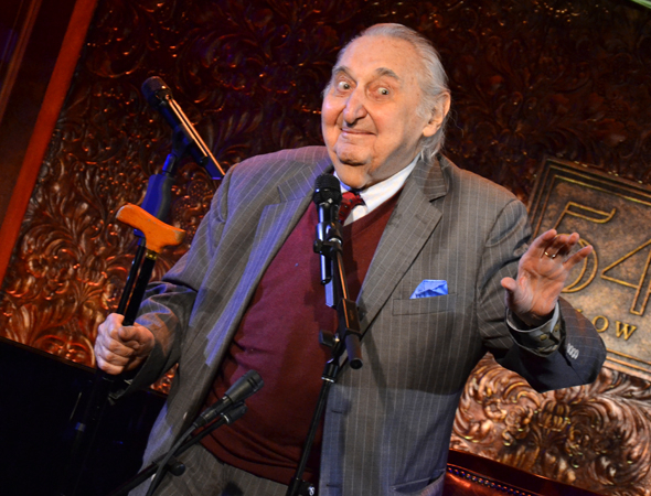 <p>Fyvush Finkel celebrates his career onstage at 54 Below.</p><br />(© David Gordon)