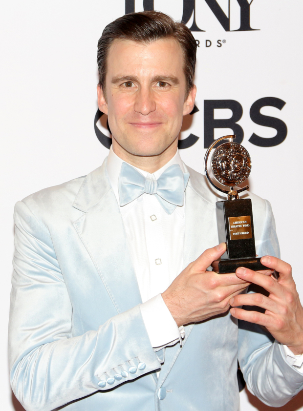 <p>Gavin Creel, Best Featured Actor in a Musical winner for <em>Hello, Dolly!</em></p><br />(© David Gordon)