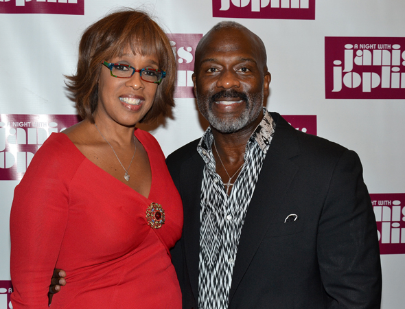 <p>Gayle King pals around with singer BeBe Winans for the evening.</p><br />(© David Gordon)